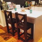 Upcycled Bench Stools