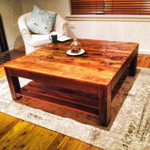 Rustic Country Square Coffee Table