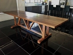 Recycled Victorian Ash Hardwood Barn / Farmhouse Style Table.