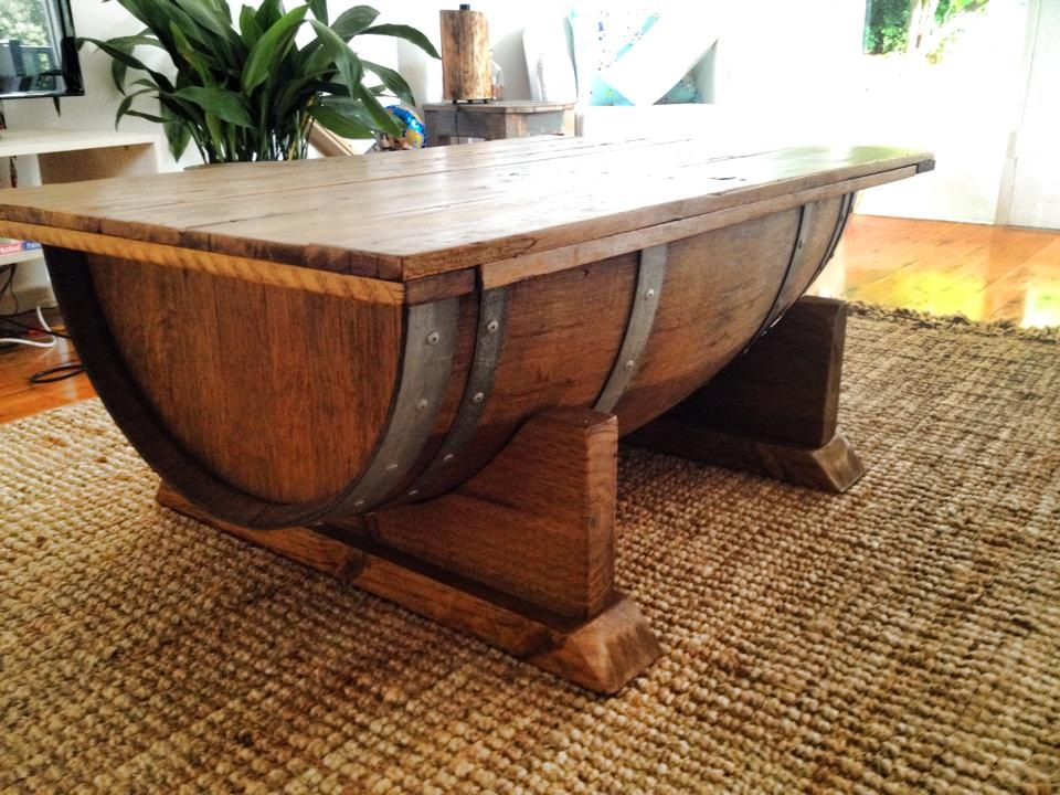 Wine Barrel Coffee Table Upcycled Wood Designs