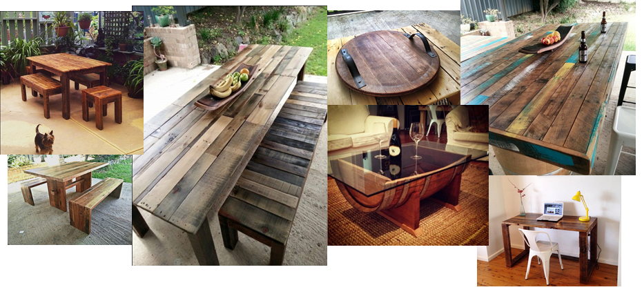 Recycled timber furniture albury melbourne dining tables upcycled wood designs